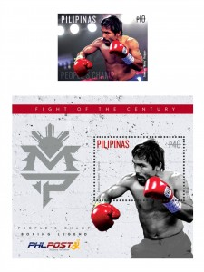 Pacquiao stamps and photo