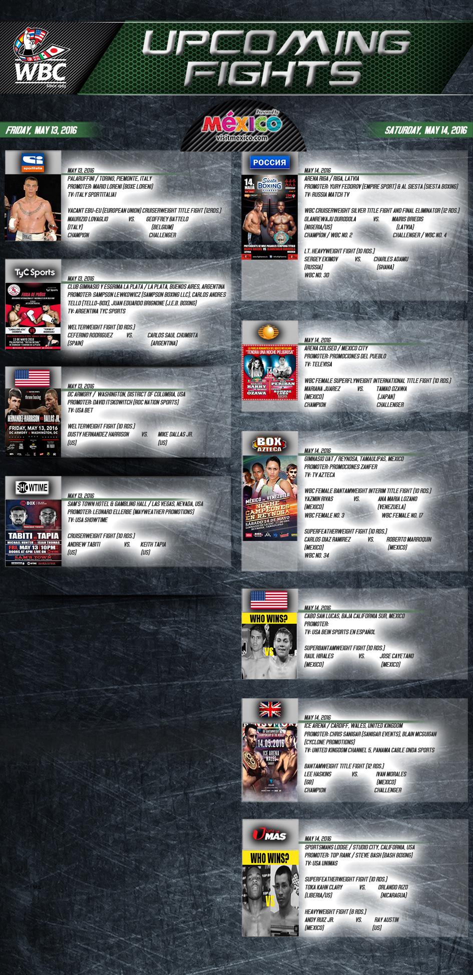 wbo boxing schedule