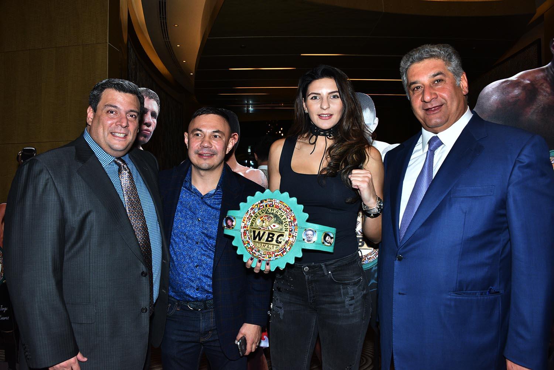 Mauricio Sulaiman, kostya Tszyu, Christina Hammmer, Misnistro del deporte Azar Rahimov