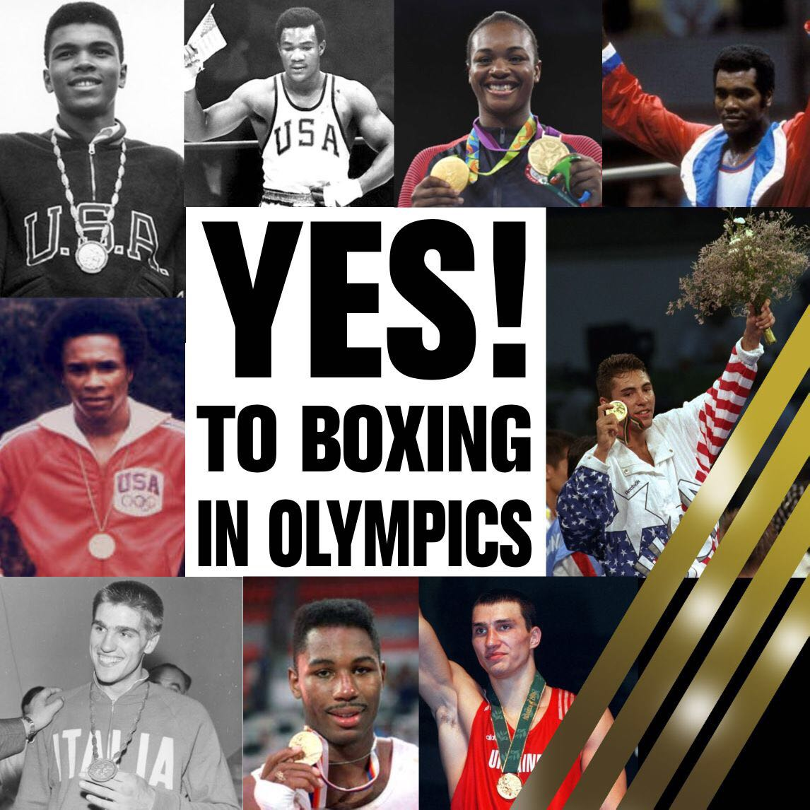 YES TO BOXING IN OLYMPICS