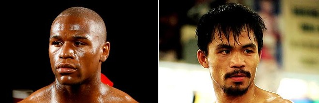 Pacquiao and Mayweather 3