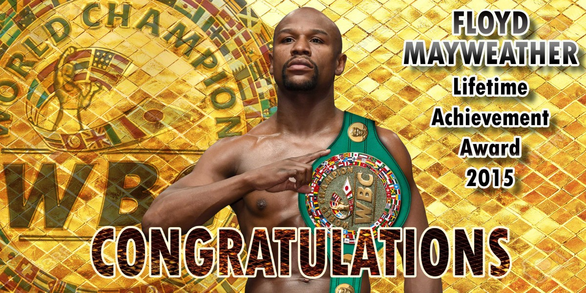 Lifetime Achievement Award Floyd Mayweather -