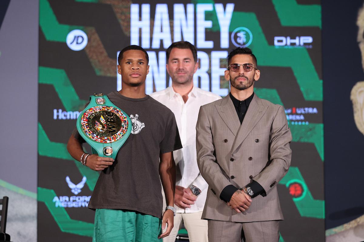 Devin Haney vs. Jorge Linares Final Press Conference   Boxen247.com