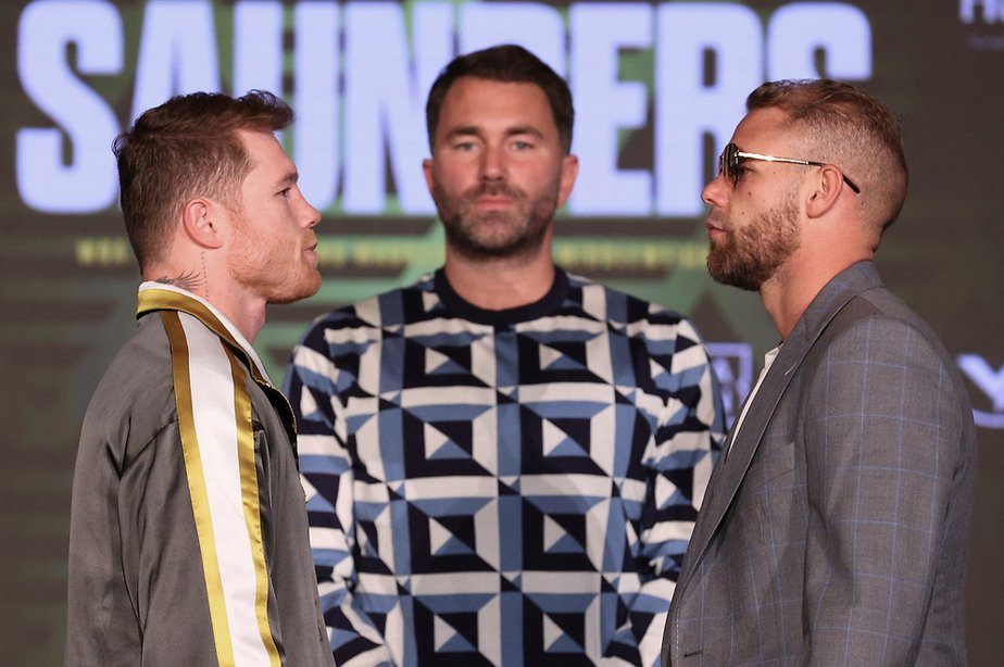 Canelo & Billy Joe Saunders Meet at the Final Press Conference | Boxen247.com