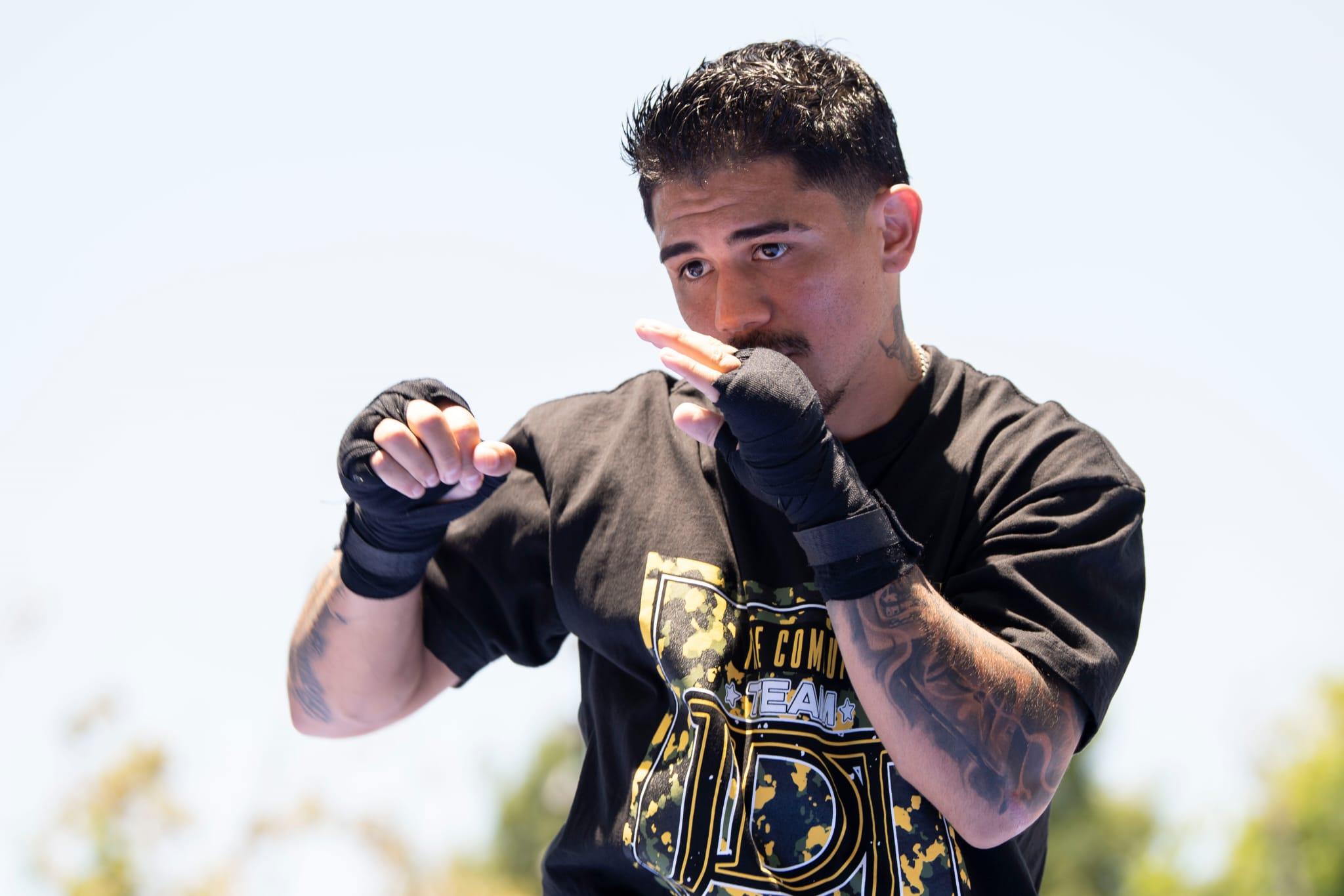 Joseph Díaz Jr vs. Javier Fortuna open workout picture gallery | Boxen247.com (Kristian von Sponneck)